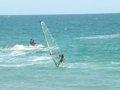 Spend the gorgeous afternoons Windsurfing and wave running at Las Palomas.