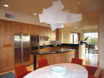 Modern kitchen with a large island