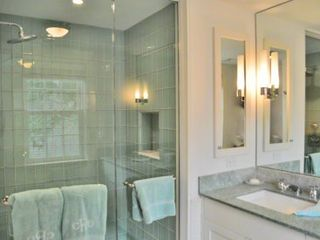 Edgartown house photo - Master Bath Has Glass Door Walk-in Rain Shower