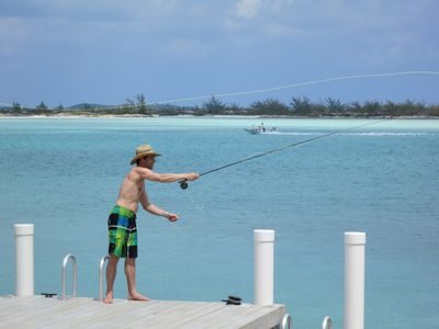 Fishing can be fun at our dock, great on Moriah's shore or with a Bonefish guide