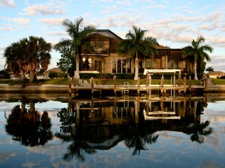 Vacation Homes in Marco Island house photo - Canal view of home. Dock for your boat. Private - no neighbors.