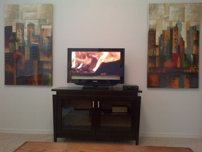 Calabay Parc villa rental - Den Entertainment Center with Flat Panel TV and DVD Player!