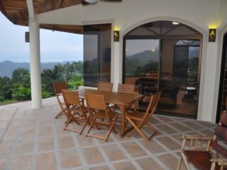 Ojochal villa photo - Outside dining area, can seat 12.