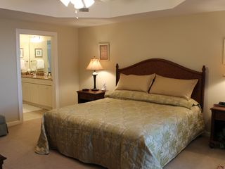 Kingston Plantation condo photo - Master Bedroom, king size bed, balcony with ocean view and 42' flat panel t.v.