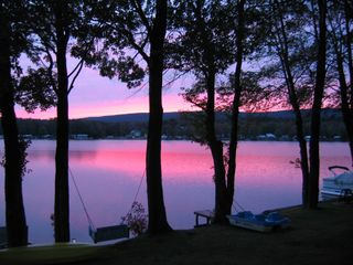 Lake Ariel cottage photo - summer sunset