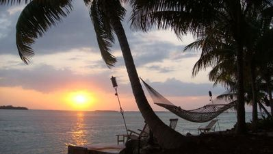 Summerland Key house rental - Beautiful backyard sunsets from the hammock
