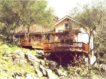 Mariposa house rental - ~ The back of the house (from across the creek)