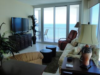 Gulf Shores condo photo - LIVING AREA WITH FLAT SCREEN TV