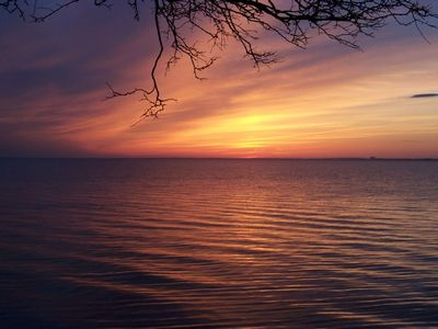 Davis Park cottage rental - Bay Sunsets!