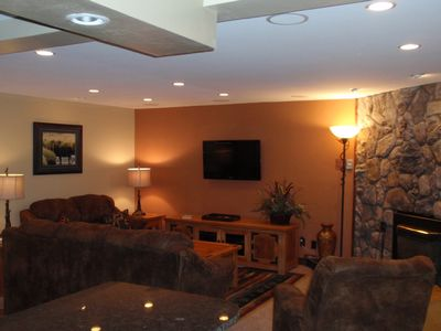 Park Place Breckenridge condo rental - Living Room w/Flat Screen TV & Surround Sound
