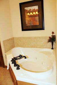 There are master bathrooms off of every bedroom and all have jacuzzi tubs.