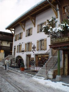 Luxurious ski lodge in historical building