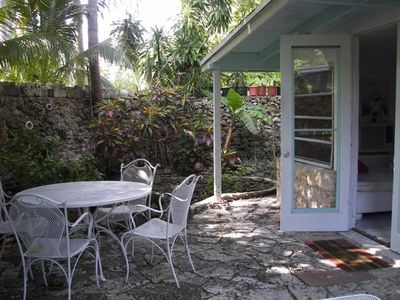 Coconut Grove cottage rental - Private stone courtyard