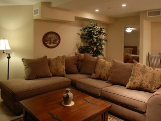 Mission Beach condo photo - LIving room with large sectional.