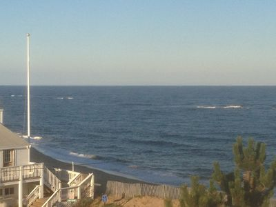 Plum Island house rental - View of Ocean from street side Sunset Deck - 180% view from Ocean to Sunset