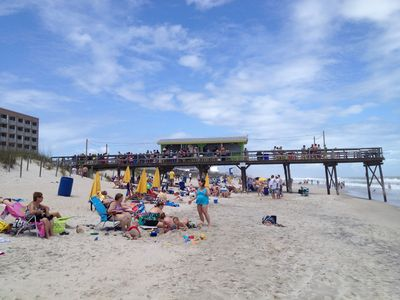 A short stroll down the beach leads you to the Tiki Bar for music and food!
