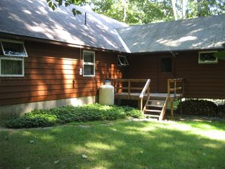 Lake Wallenpaupack house photo - Rear of home with small deck