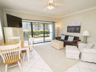 Comfortable Living Area for you to relax in after time at the gorgeous beach!