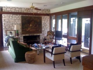 Austin house photo - Living Room with Fireplace and Flat Screen TV