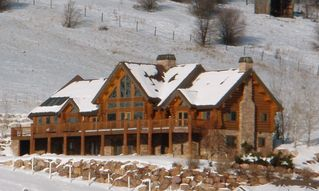 Snowbasin estate photo - Southwest view Log home