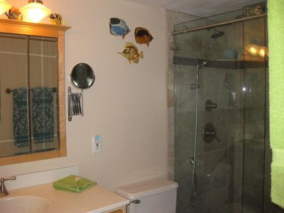 "Second bathroom, same 6-way shower to relax after a ""hard"" day."