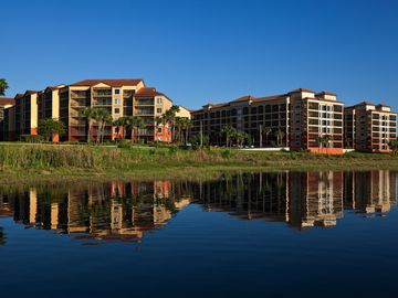Lakeside view of the Westgate Lakes Resort & Spa.