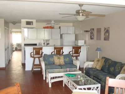 Island Living Room and Kitchen Area