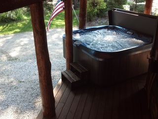 Mount Holly bungalow photo - Great hot tub with no going outside under covered porch outside front door