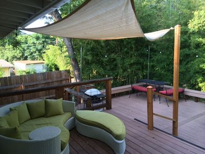 New deck set up! Enjoy the shade!