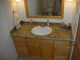 Taos house photo - Upstairs loft and office bathroom - all granite