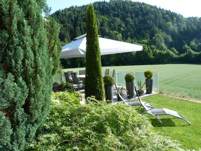 Our house is located northwest of the Bay of Velden in a sunny location