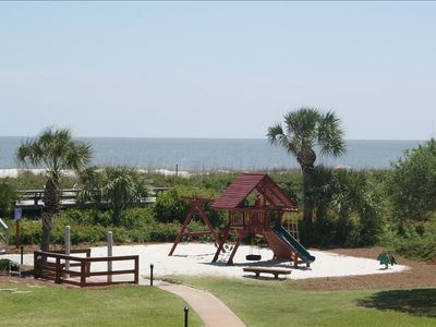 Playground, beach access, and sun deck