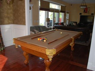 Oconomowoc house photo - An 8 foot slate pool table right in the great room is great for gathering