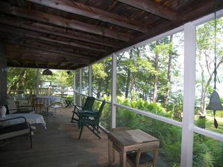 Lakeville cottage photo - Front Porch: Lake Supervision Center