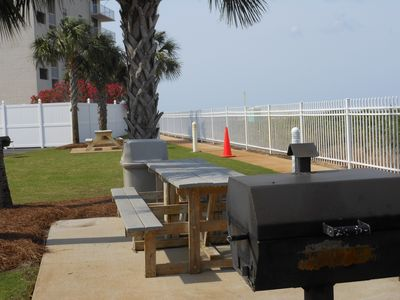 We have 3 grill areas for your outdoor pleasure