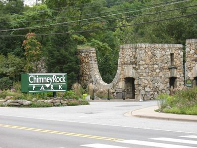 Our local attraction-Chimney Rock State Park- 15 min. from the house.