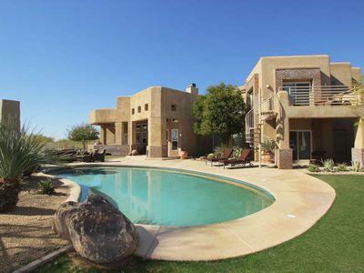 Completely Private Pool, Outdoor Living Room and garden area set on over 1 acre