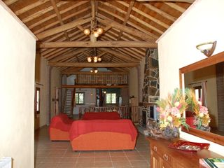Genalguacil villa photo - 100 m2 lounge, with 7 m high chestnut wooden ceilings and fireplace
