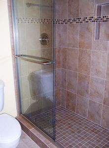 New tiled shower in master bath