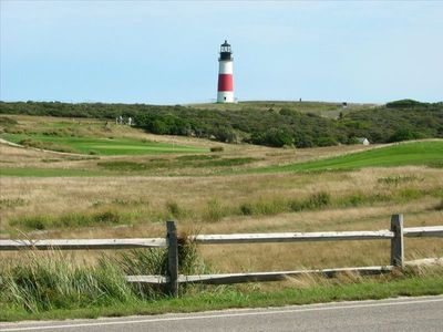 Sankaty Golf Club and Sankaty Lighthouse, 1.5 miles from the cottage