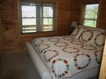 One of 3 bedrooms on main level-King bed