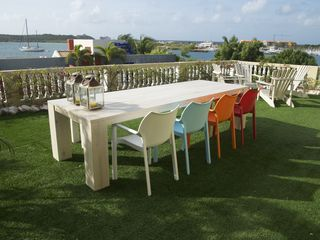 Curacao villa photo - Enjoy your dinner under the stars in the new table that can sit up to 12