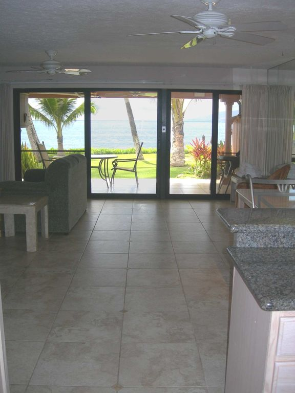 The cook's view from the kitchen is the Pacific Ocean.