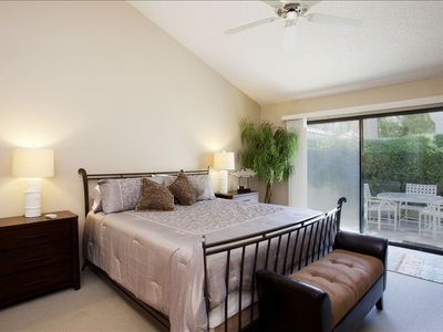 Master King Suite, walk-out to private patio