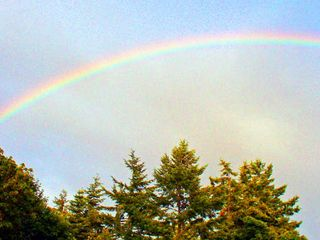 Camano Island house photo - More Rainbows!
