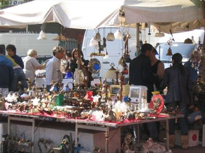 The famous Porta Portese market taking place every sunday close the apartment