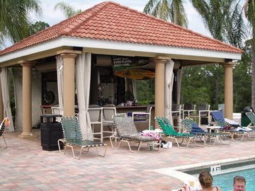 Tiki Bar on pool side.