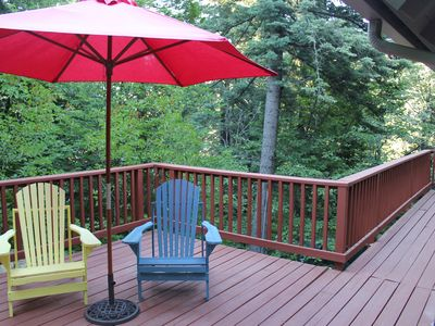 Enjoy the view from the front deck