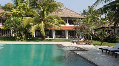 Beach Villa  with Private Chef, Pool and Tennis Court in Wadduwa, 3 Bedrooms AC.