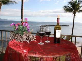 Maalaea condo photo - Relax while you watch the surfers and the Whales